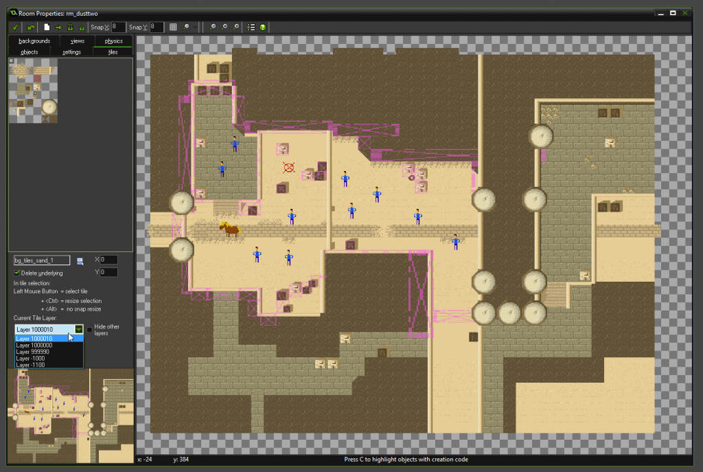 My interpretation of de_dust2 in Game Maker for PONY!